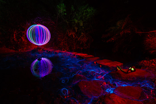 River Orb - Light Painting