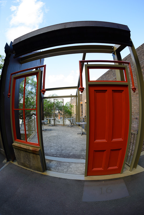 An Open Red Door