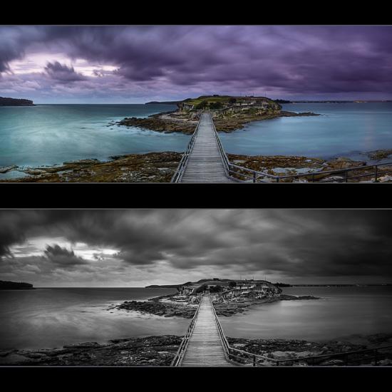 Bare Panorama Colour & Mono