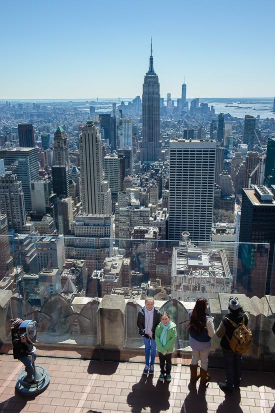 Looking Down on NY City